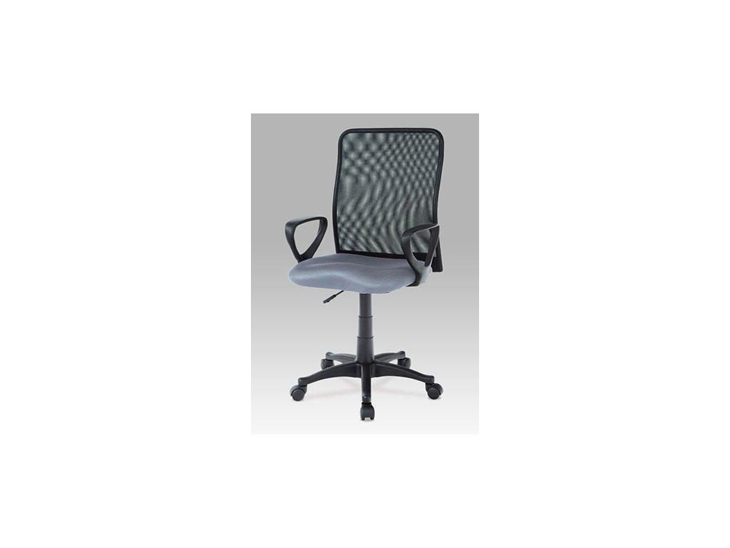 Kancelárska stolička KA-B047 GREY čierno šedé s opierkami