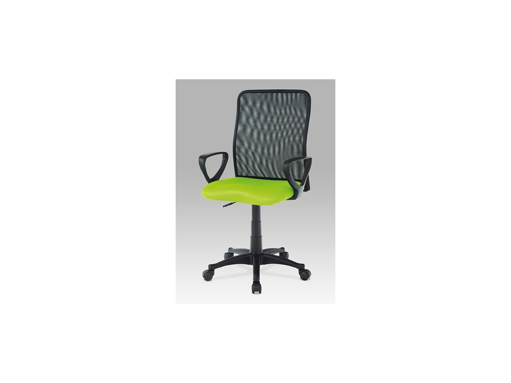 Kancelárska stolička KA-B047 GRN čierno zelené s opierkami