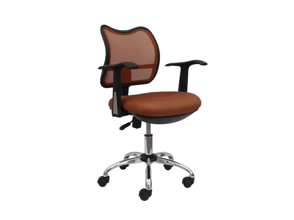 Kancelárska stolička EDISON 13 svetlo hnedá s opierkami