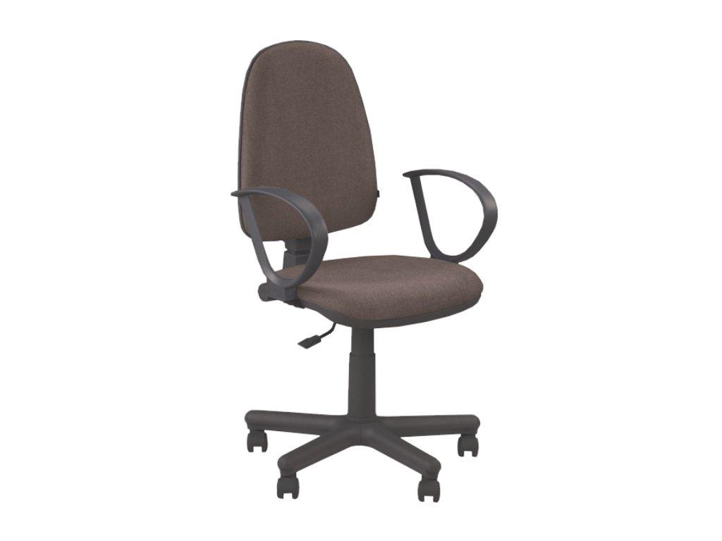 Kancelárska stolička JUPITER GTS hnedá s opierkami