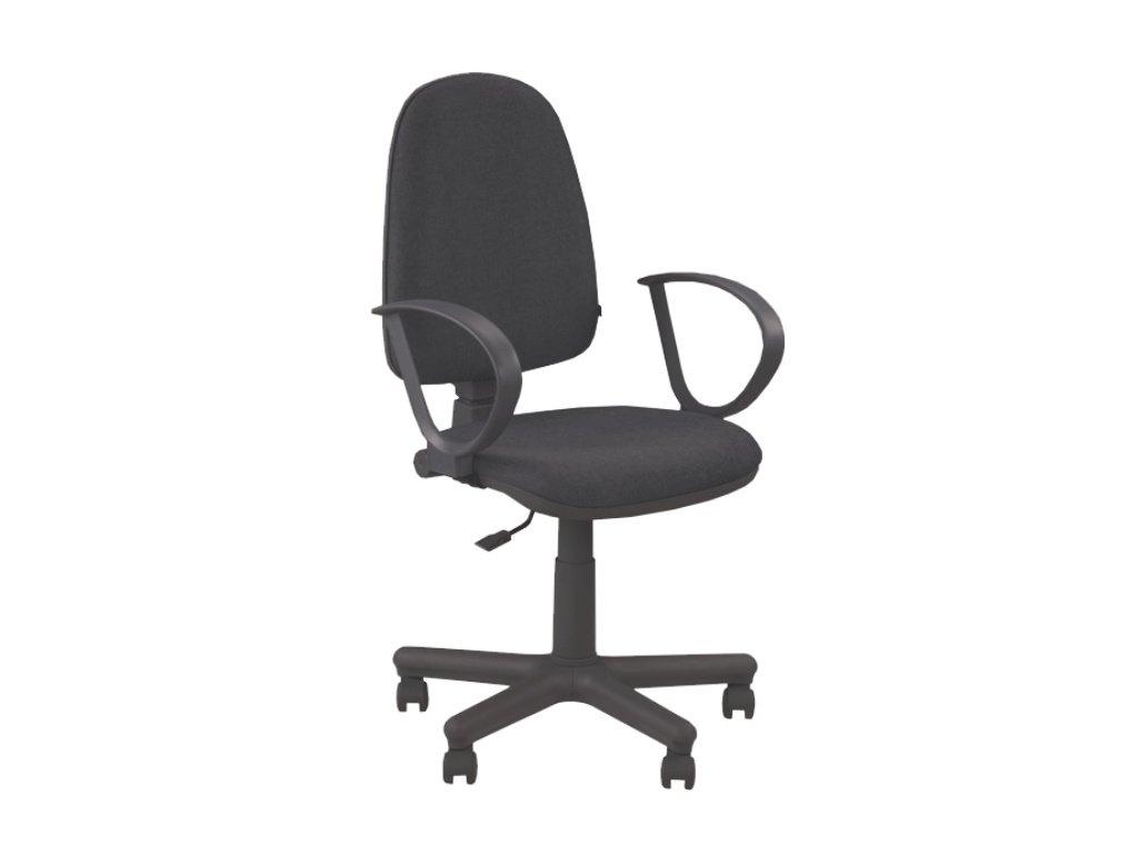 Kancelárska stolička JUPITER GTS čierna s opierkami