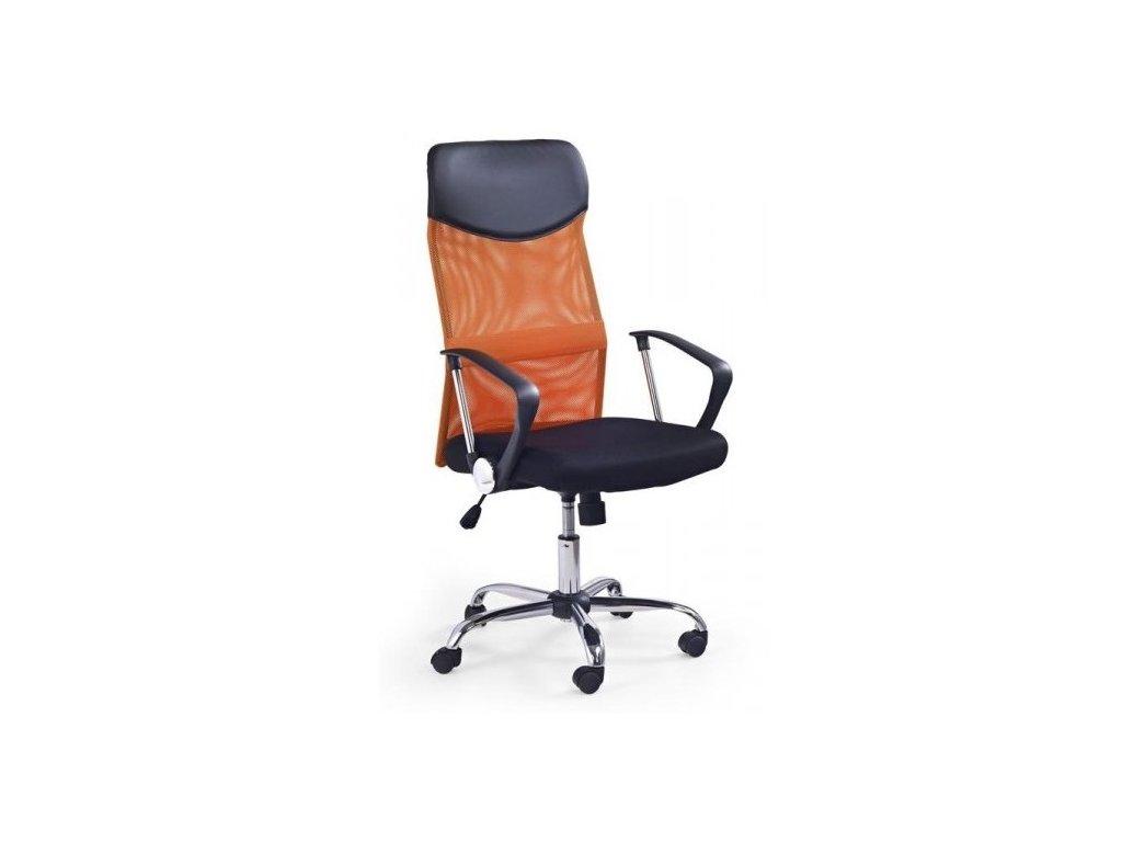Kancelárske kreslo VIRE s opierkami, oranžovo-čierne
