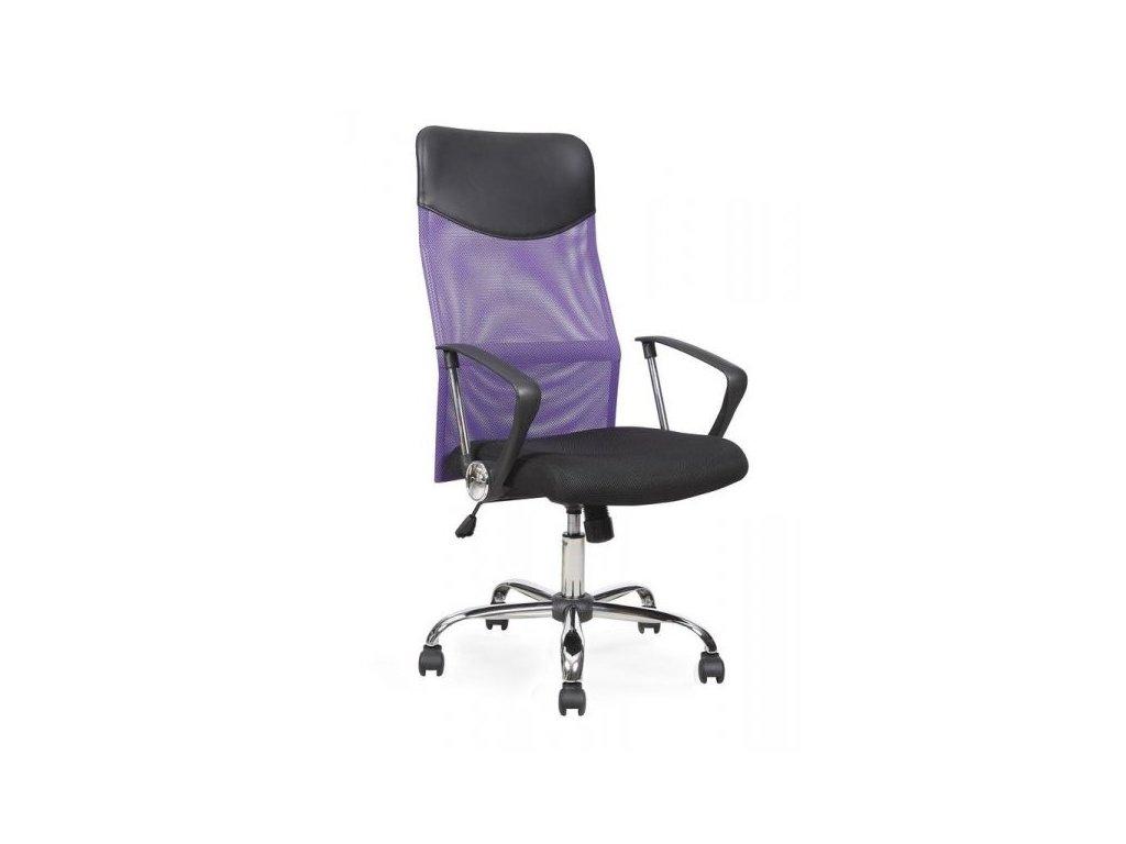 Kancelárske kreslo VIRE s opierkami, fialovo-čierne