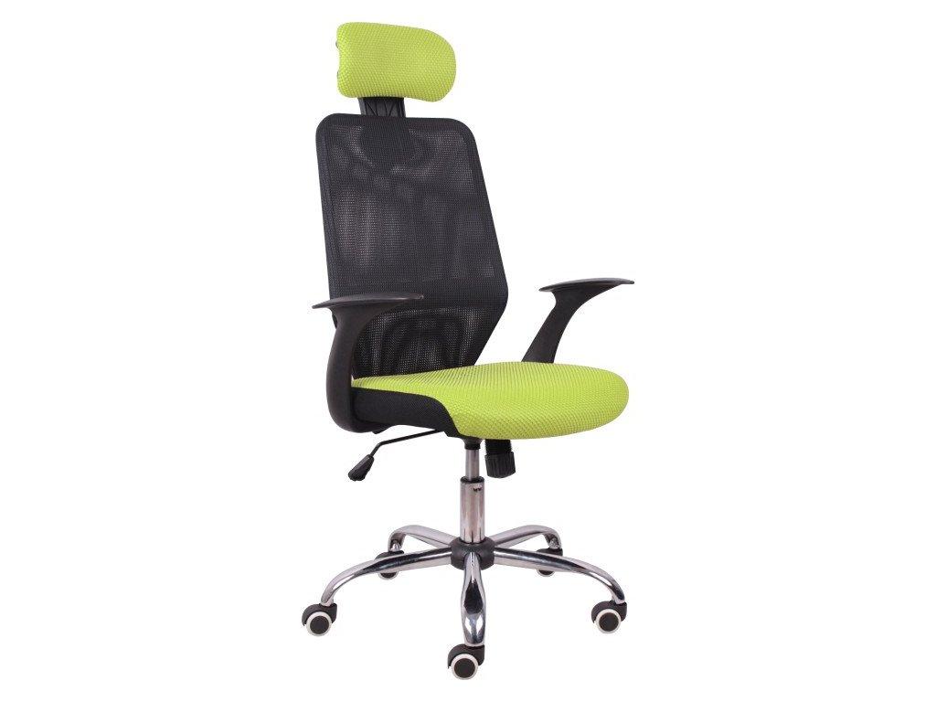 Moderné kancelárske kreslo REY, čierno-zelené