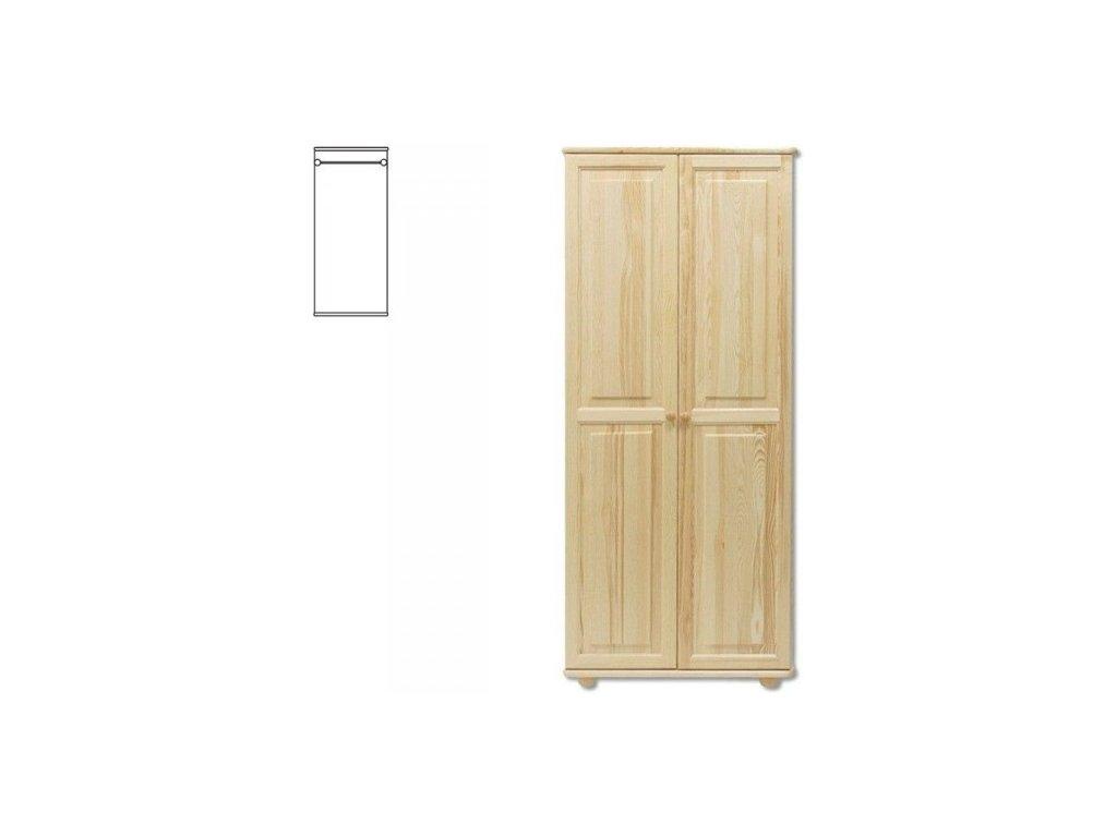 Masívna drevená šatníková skriňa KIK 103