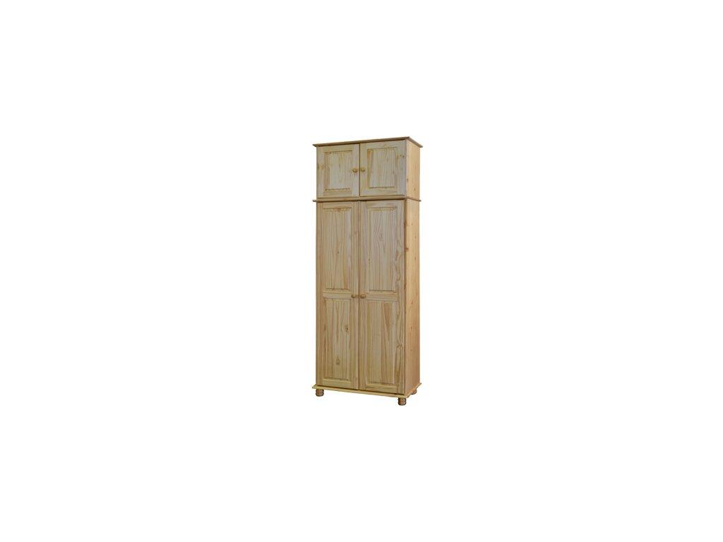 Šatníková skřín 2 dverová s nástavcom -borovice masív SKLADOM