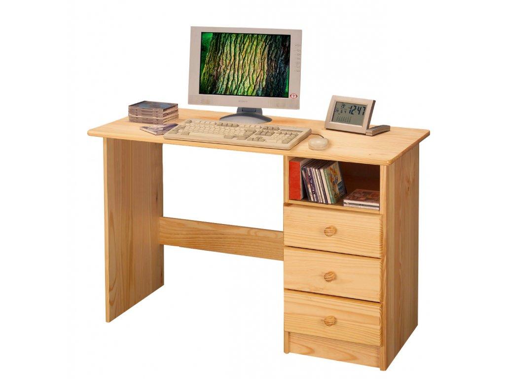 Písací stôl Malte, borovica masív lakovaný