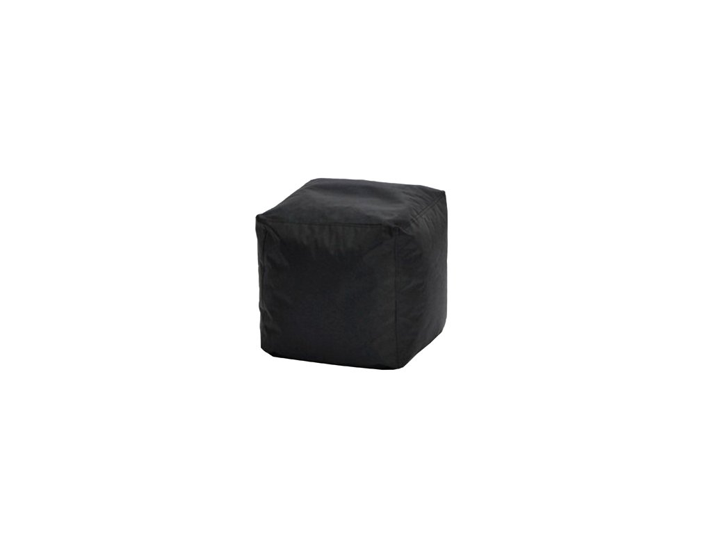 Sedací taburet CUBE černý