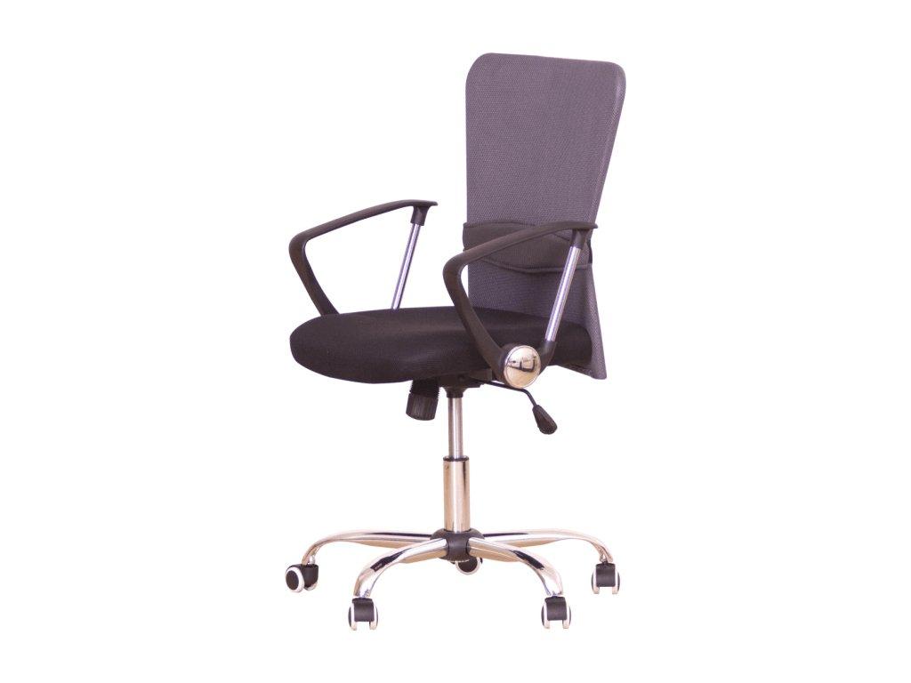 Kancelárska stolička AEX sivá s opierkami