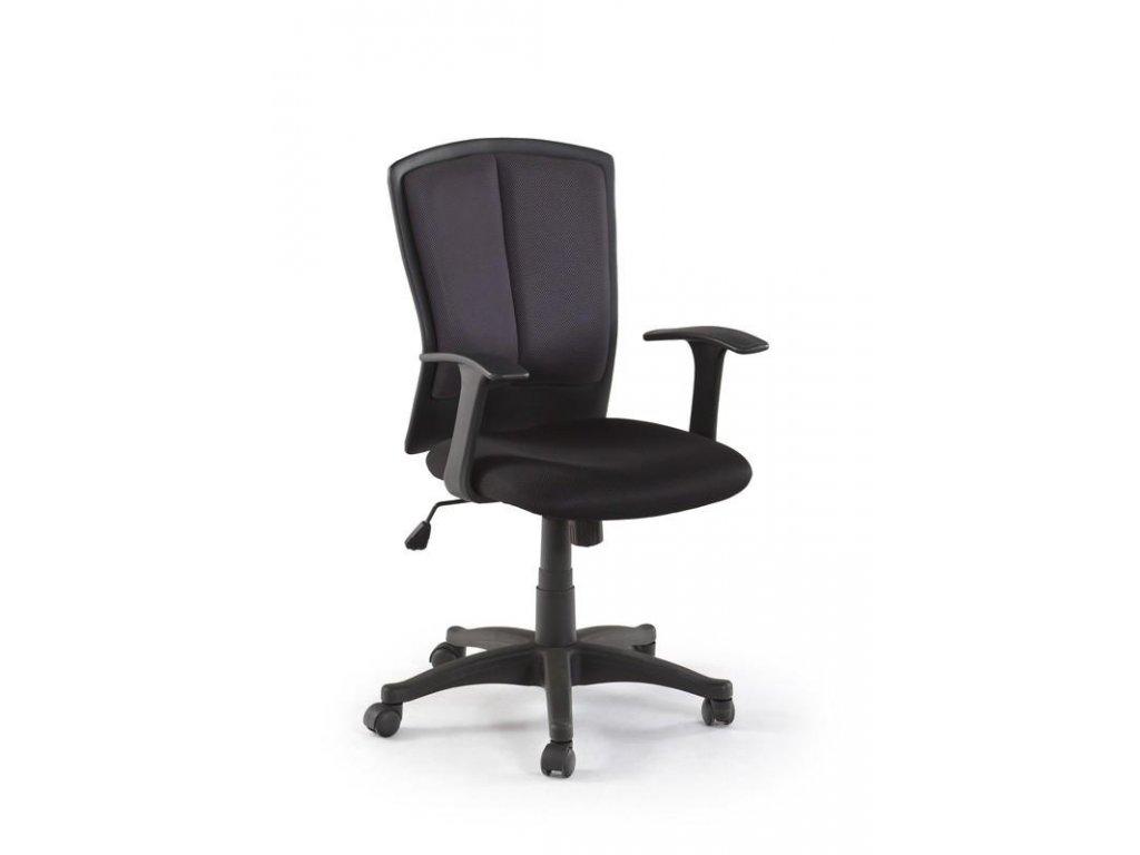 Kancelárska stolička ANDRES čierna s opierkami