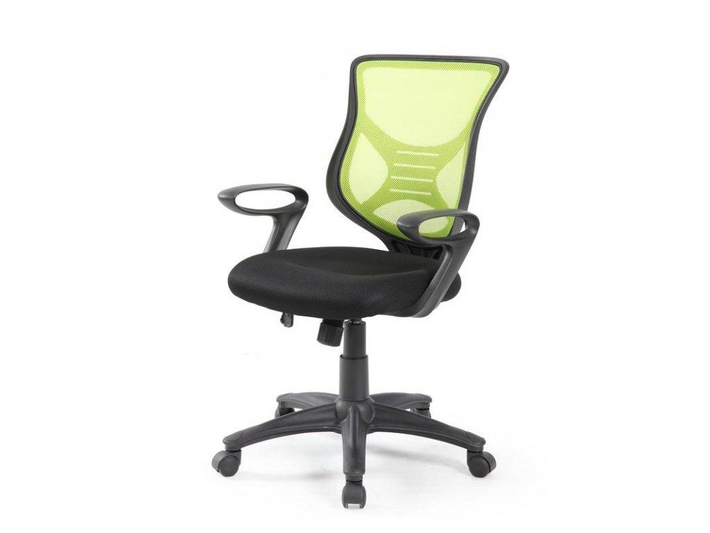 Kancelárska stolička BONO čierno zelená s opierkami