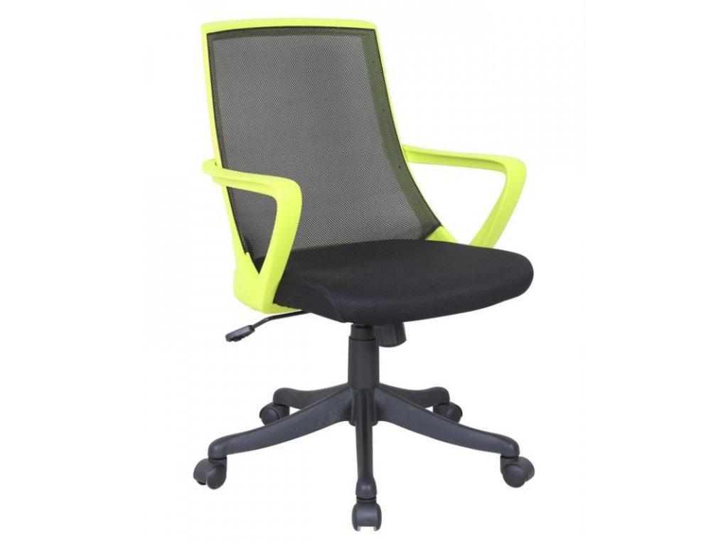 Kancelárska stolička Diogenes zeleno čierna s opierkami
