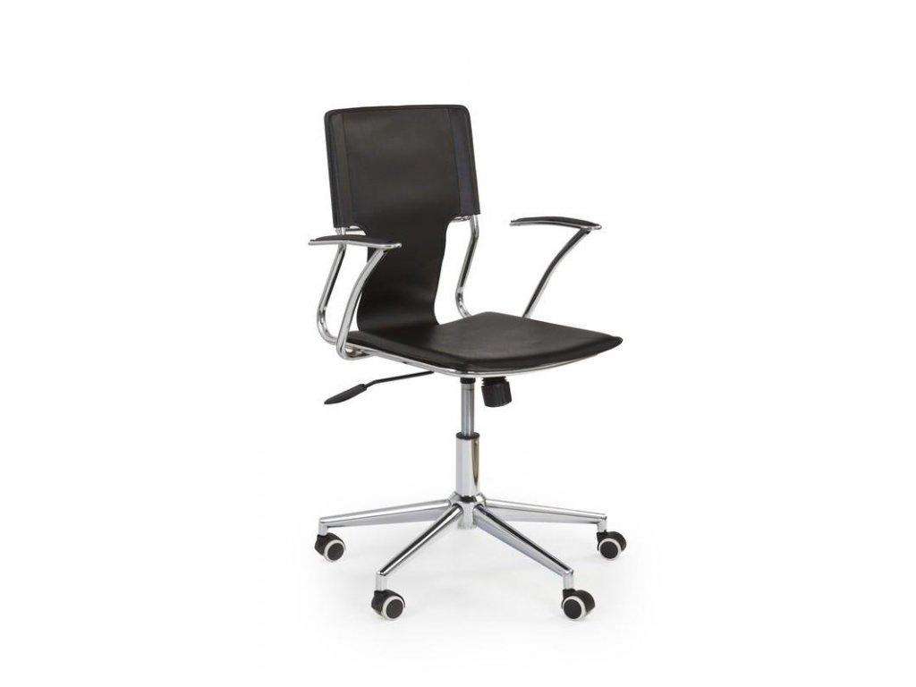 Kancelárska stolička DERBY čierna s opierkami