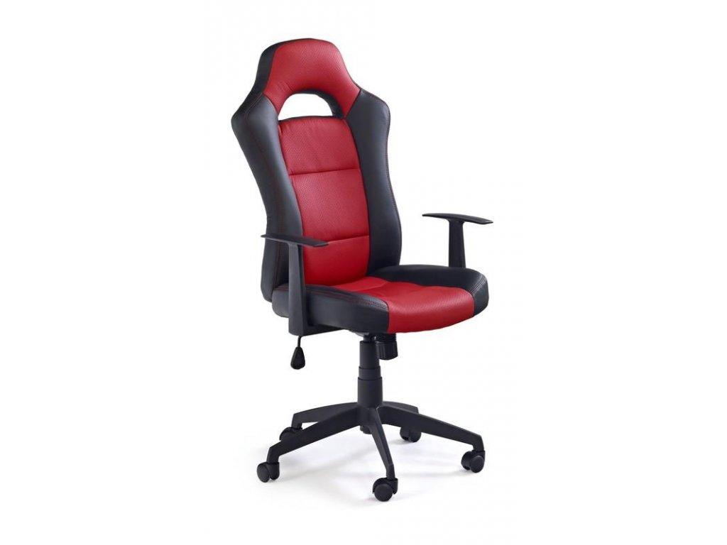 Kancelárske kreslo RACER 2 čierno červené s opierkami