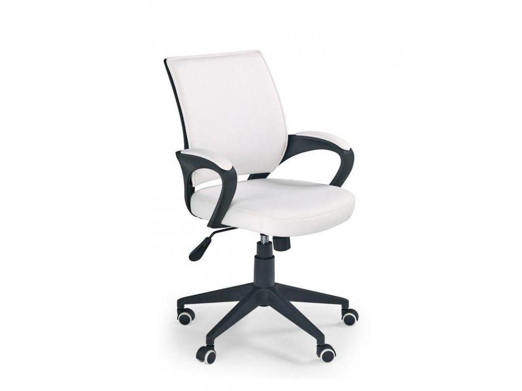Kancelárska stolička LUCAS biela s opierkami