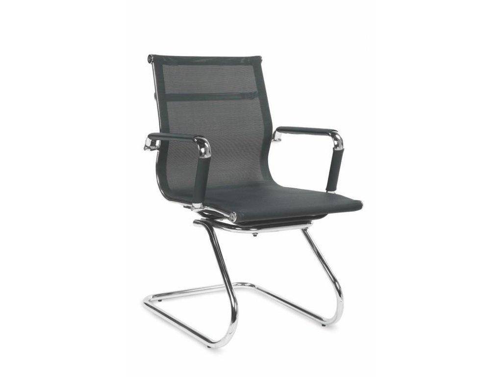 Kancelárska stolička OPERA SKID čierna s opierkami