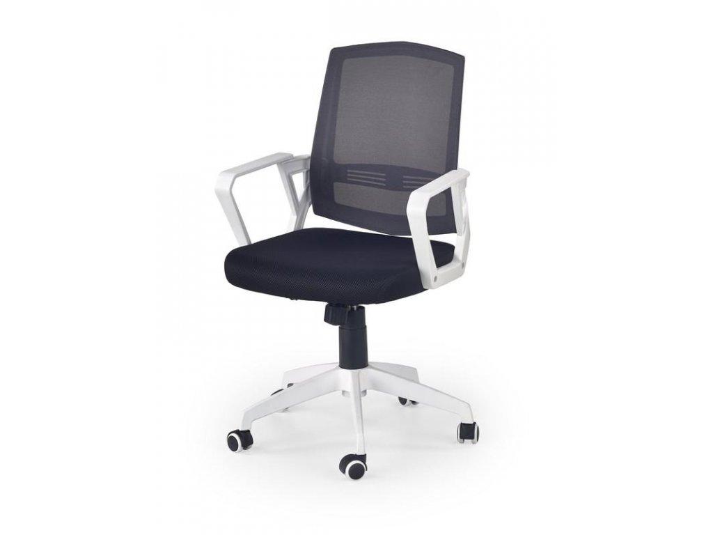 Kancelárska stolička ASCOT čierno biela s opierkami