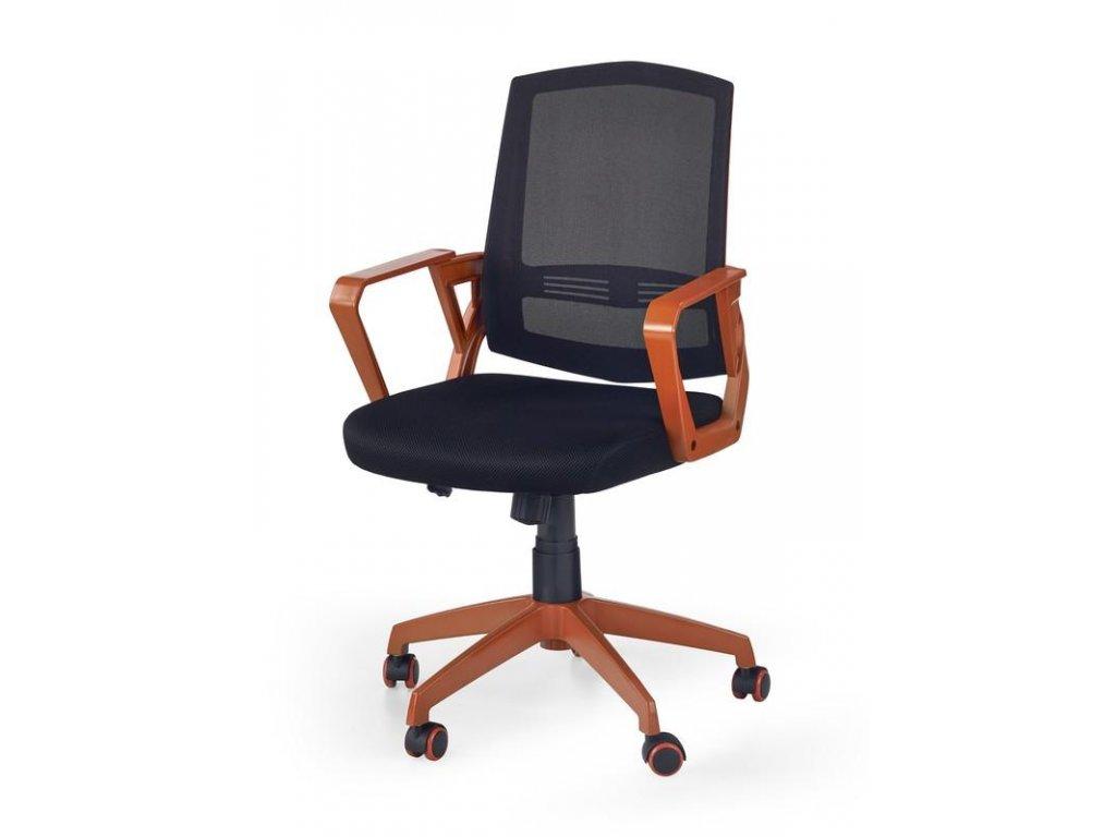 Kancelárska stolička ASCOT čierno oranžová s opierkami