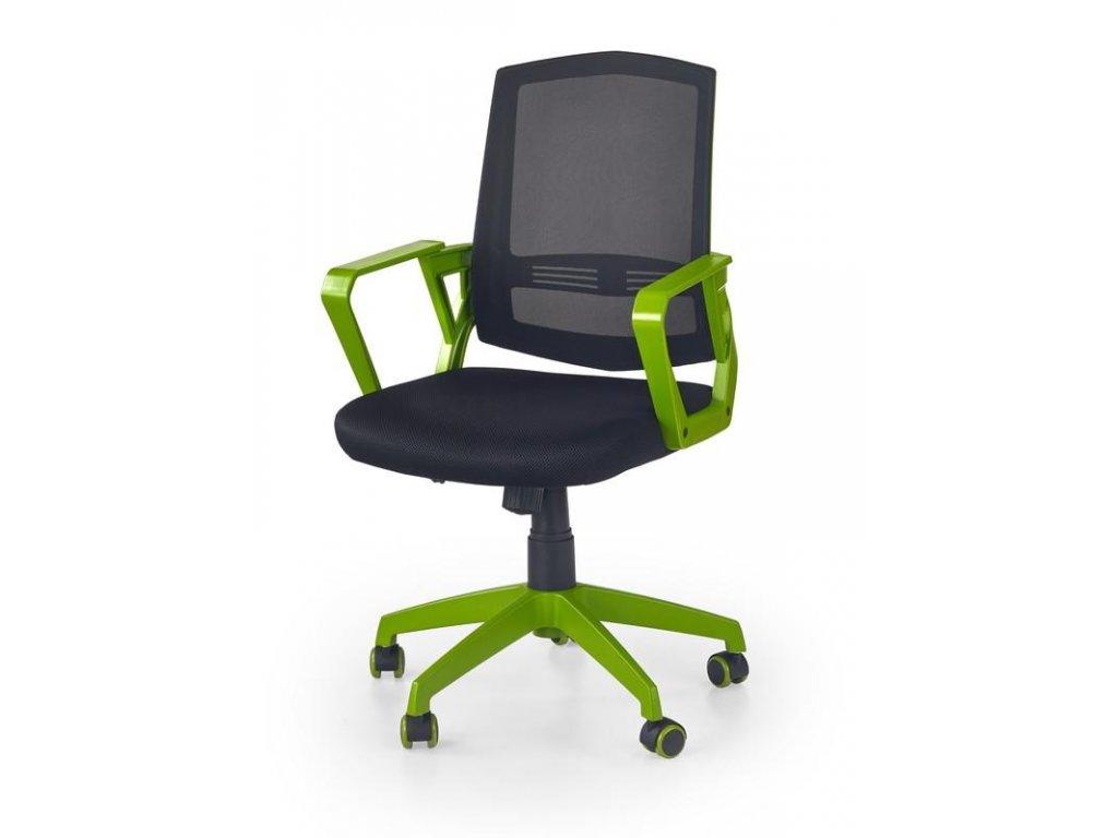 Kancelárska stolička ASCOT čierno zelená s opierkami