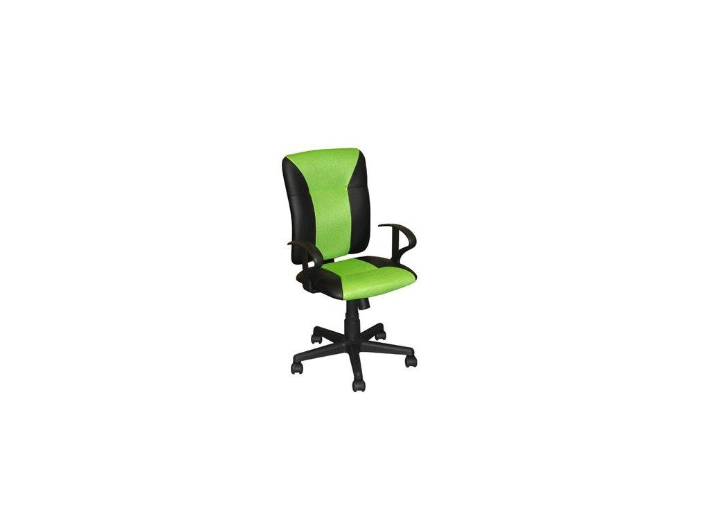 Kancelárska stolička KING, zelená SKLADOM