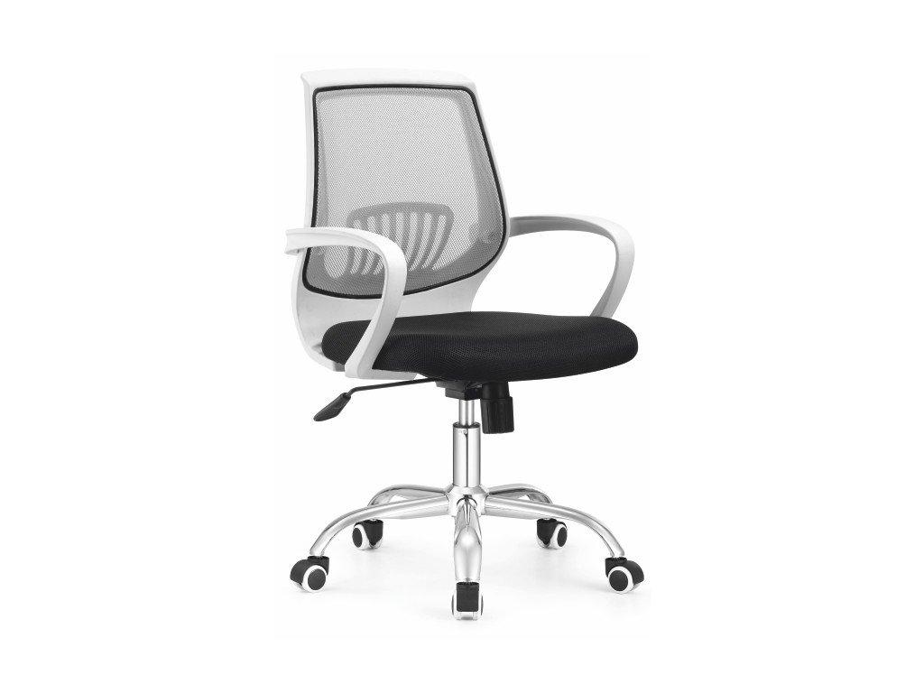 Kancelárska stolička LANCELOT černo šedá s područkami