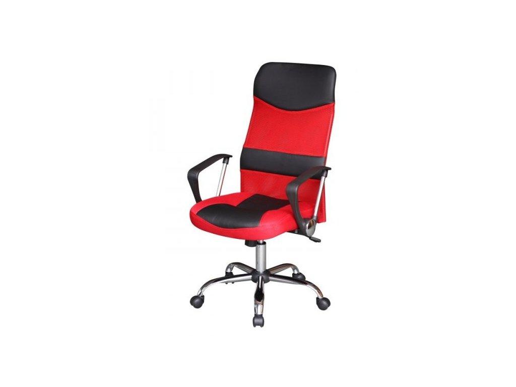 Kancelárske kreslo TC3-973M, červeno-čierne