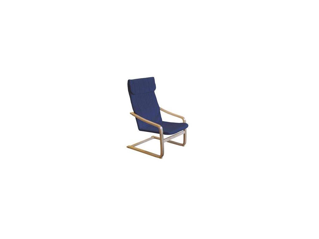 Kreslo relaxačné drevené - modré