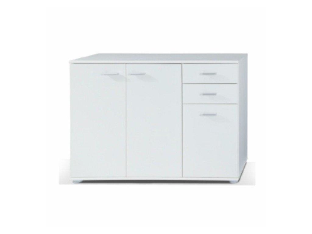 Moderná komoda Tampa 1-3T2S kombinovaná biela