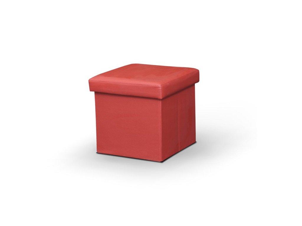 Taburet TELA červený