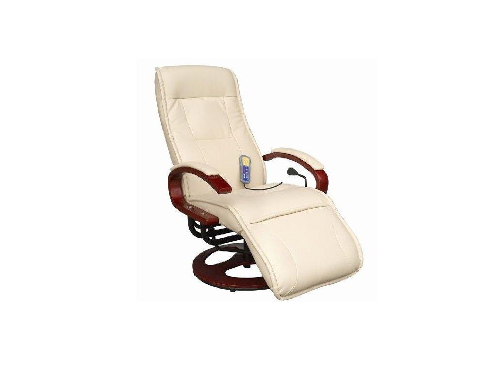 Luxusné el. masážne kreslo s podnožkou, nosnosť do 150kg