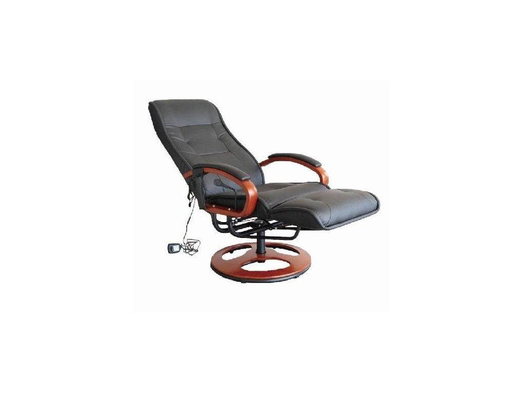 Luxusné el. masážne kreslo s podnožkou, nosnosť do 150 kg
