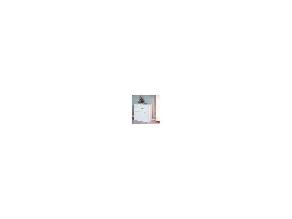 Komoda masívna 3 + 2 zásuvky - biela