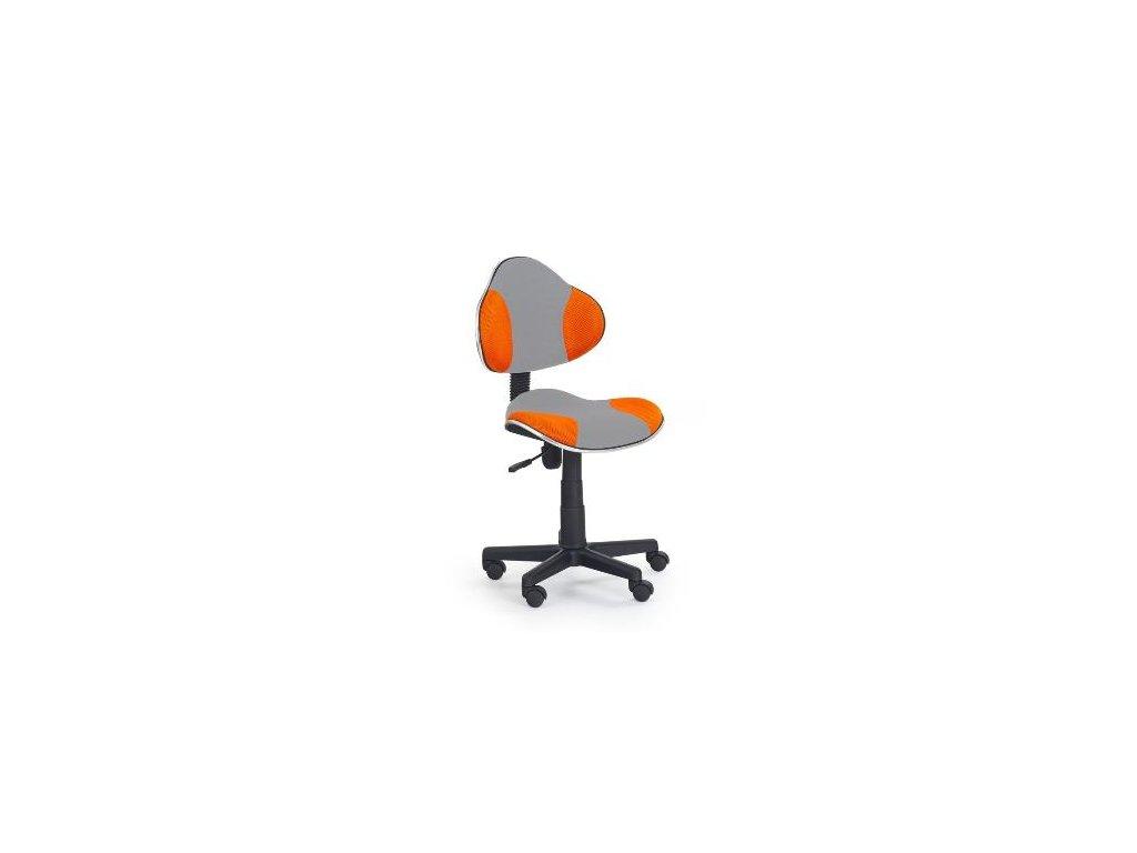 Kancelarská stolička Flesh oranžovo-sivá