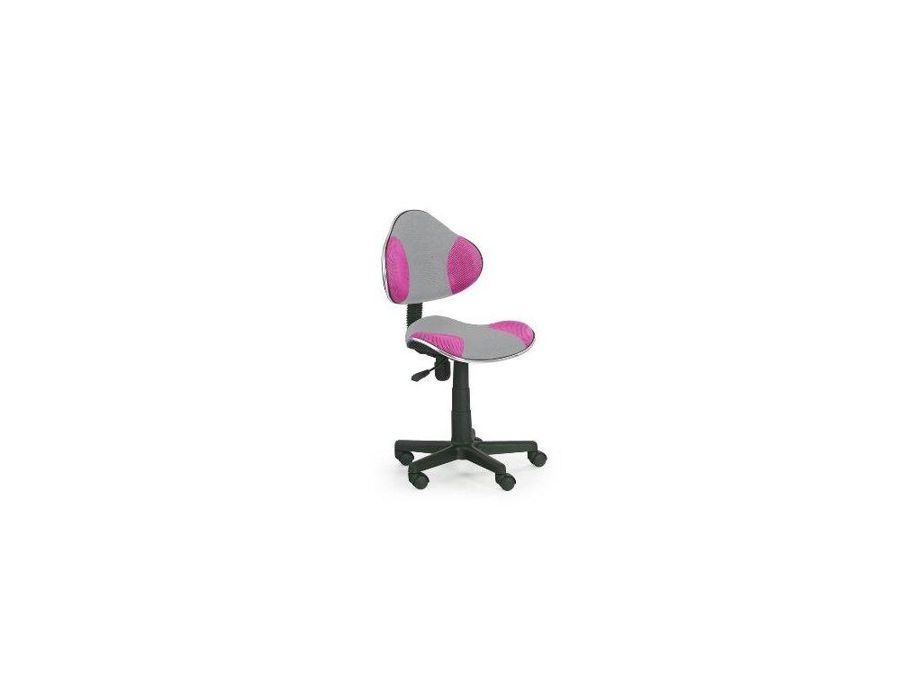 Kancelarská stolička Flesh růžovo-sivá
