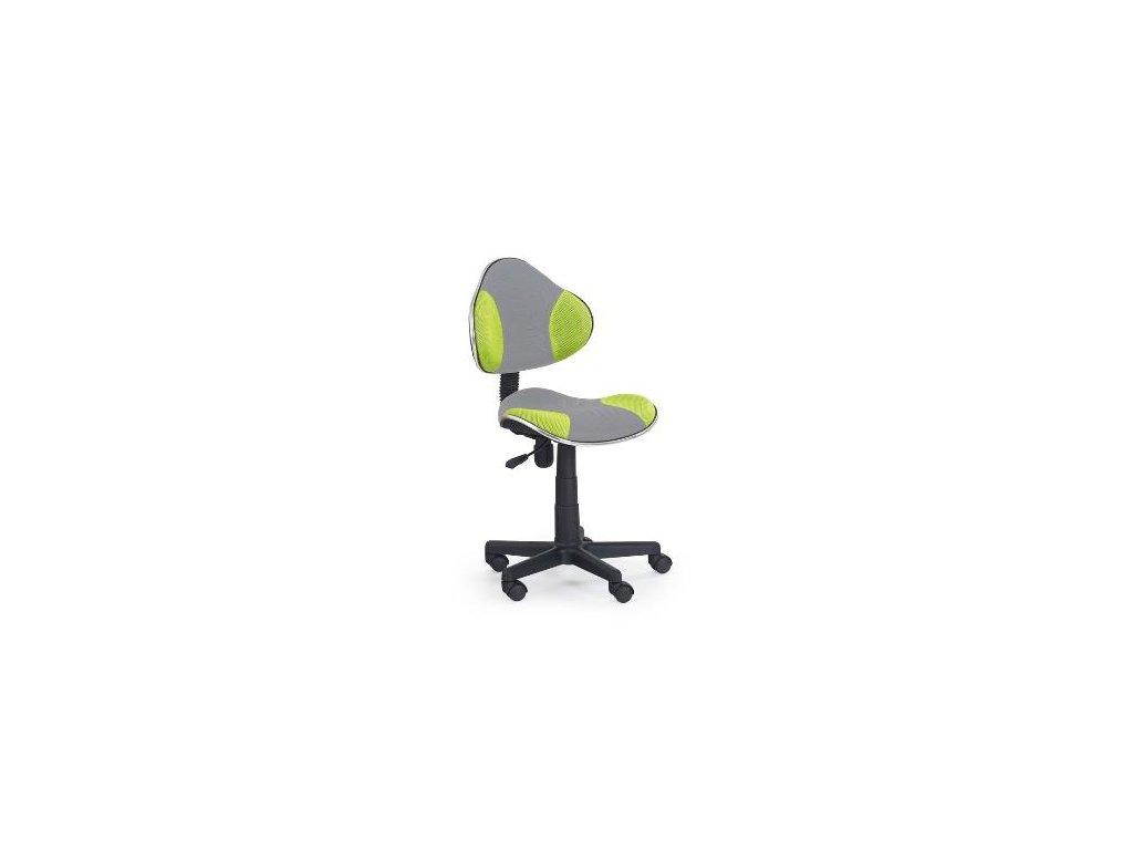 Kancelarská stolička Flesh zeleno-sivá