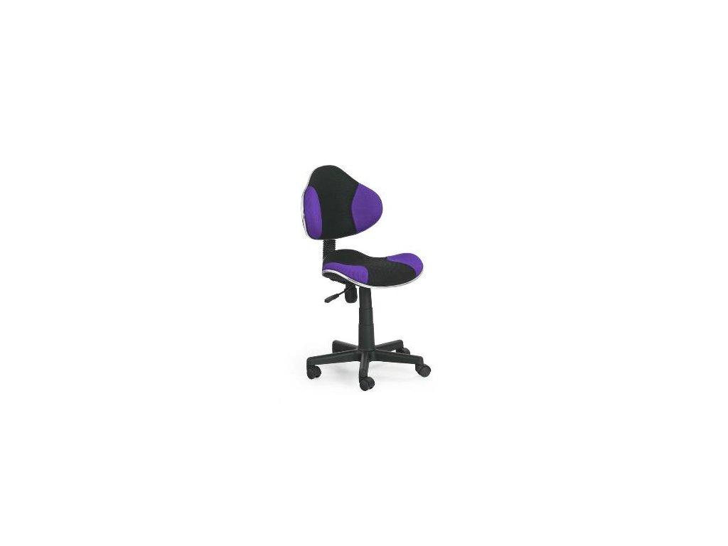 Kancelarská stolička Flesh fialovo-čierná