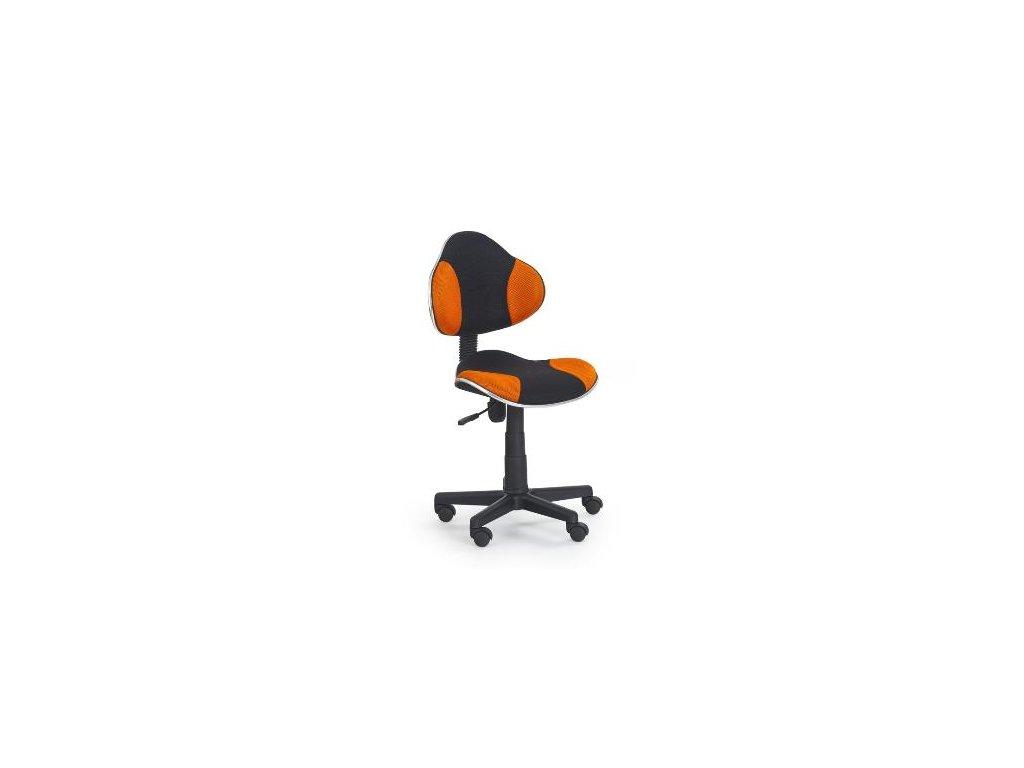 Kancelarská stolička Flesh oranžovo-čierná