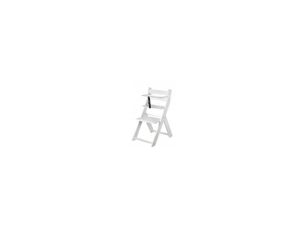 LUCA KOMBI L07 stolová stolička biela / biela s ergonomickým sedením