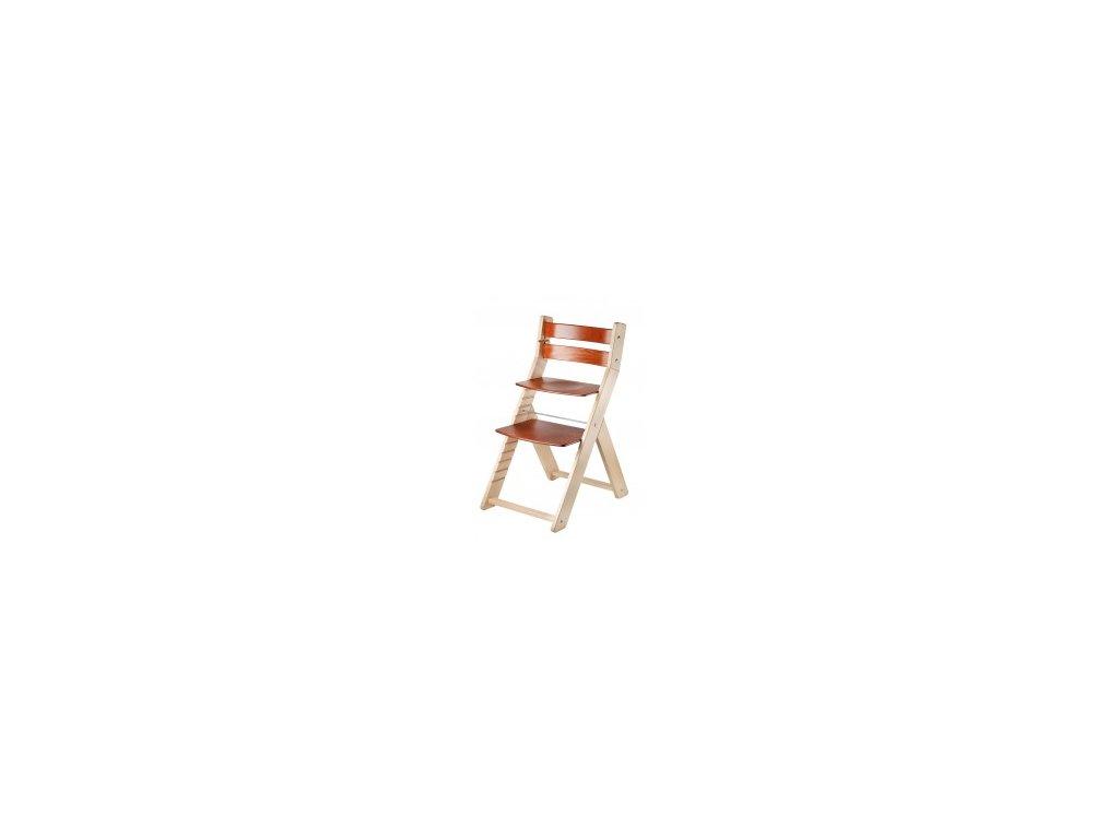Prírodné / čerešňové stoličky SANDY 002 s ergonomickým sedením
