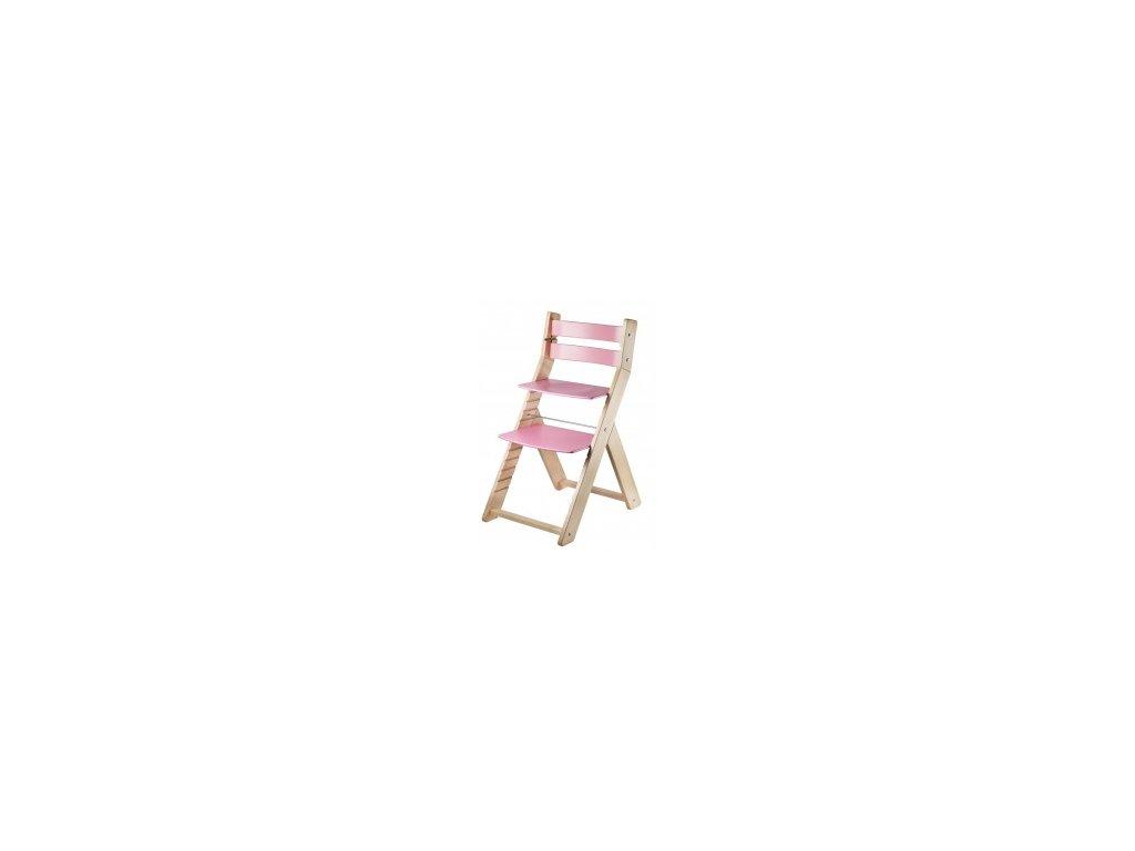 SANDY M01 prírodné ružové jedálenské stoličky s ergonomickým sedením