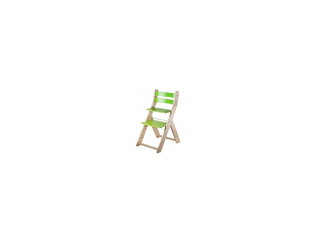 Prírodné / zelené jedálenské stoličky SANDY M02 s ergonomickým sedením