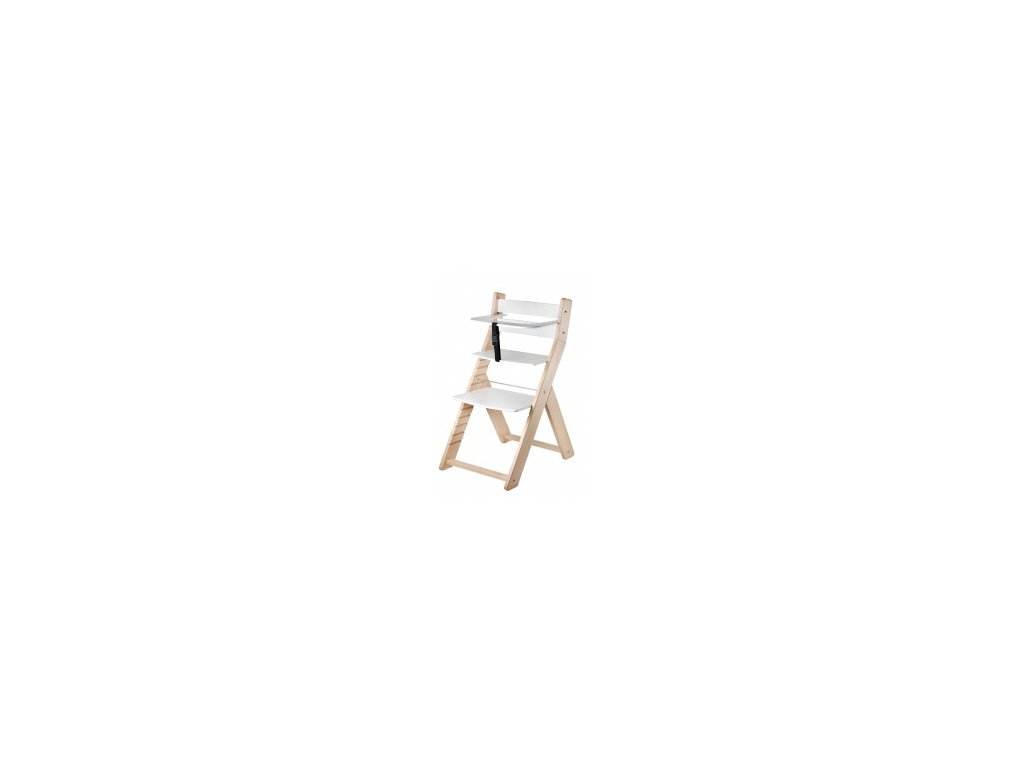 Jedálenská stolička LUCA-L07 prírodná / biela s ergonomickým sedením