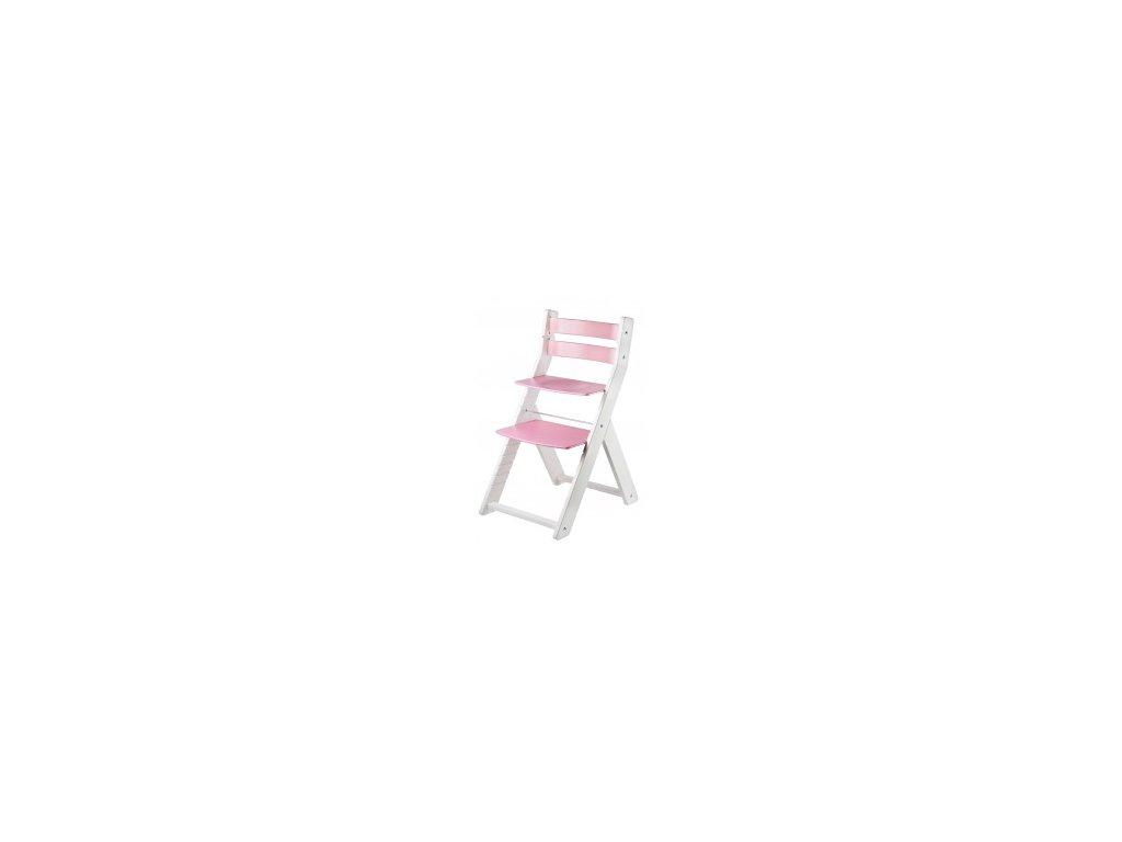 SANDY KOMBI M01 jedálenský stôl biela / ružová s ergonomickým sedením