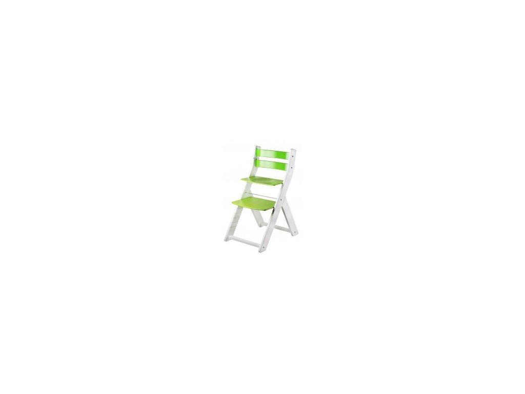 SANDY KOMBI jedálenský stôl M02 biela / zelená s ergonomickým sedením