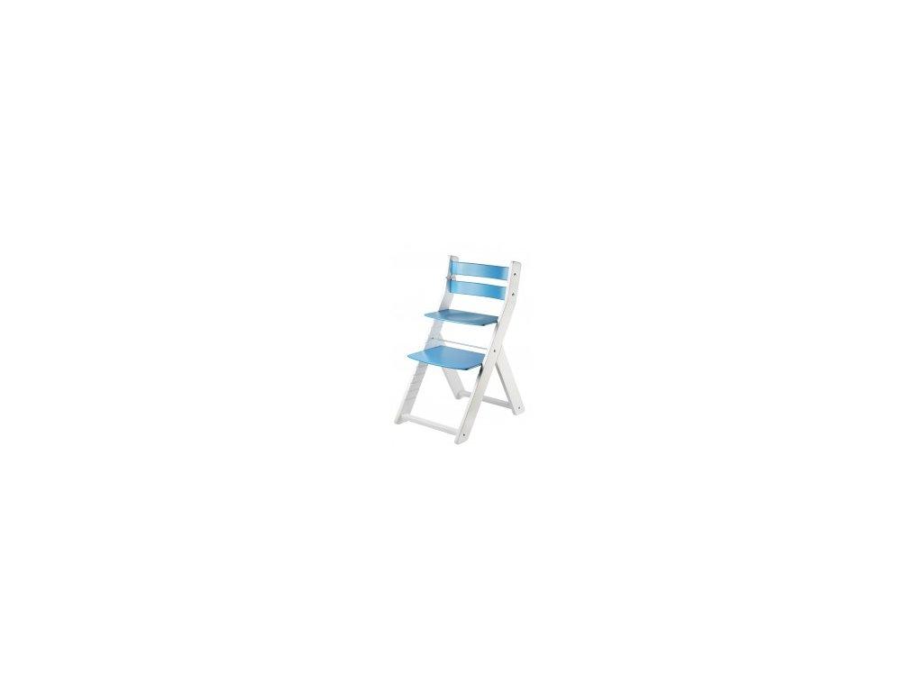 Mäkká stolička SANDY KOMBI M03 biela / modrá s ergonomickým sedením