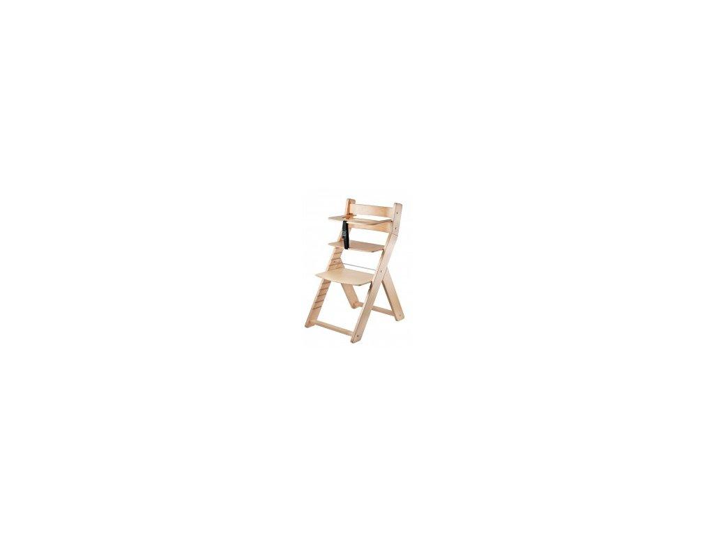 Jedálenská stolička LUCA -001 natur / natur s ergonomickým sedadlom