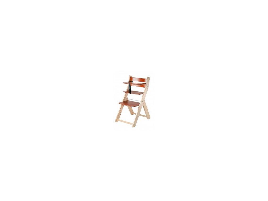 Jedálenská stolička LUCA -002 prírodná / čerešňa s ergonomickým sedením