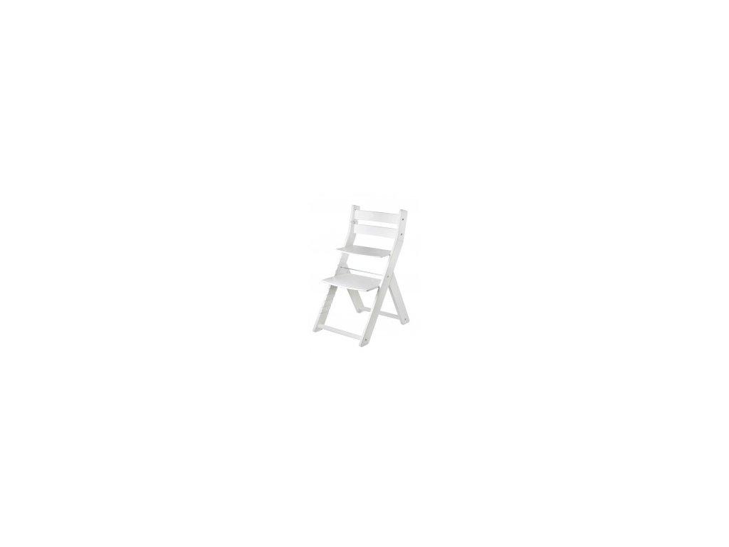 SANDY KOMBI M07 jedálenská stolička biela s ergonomickým sedením