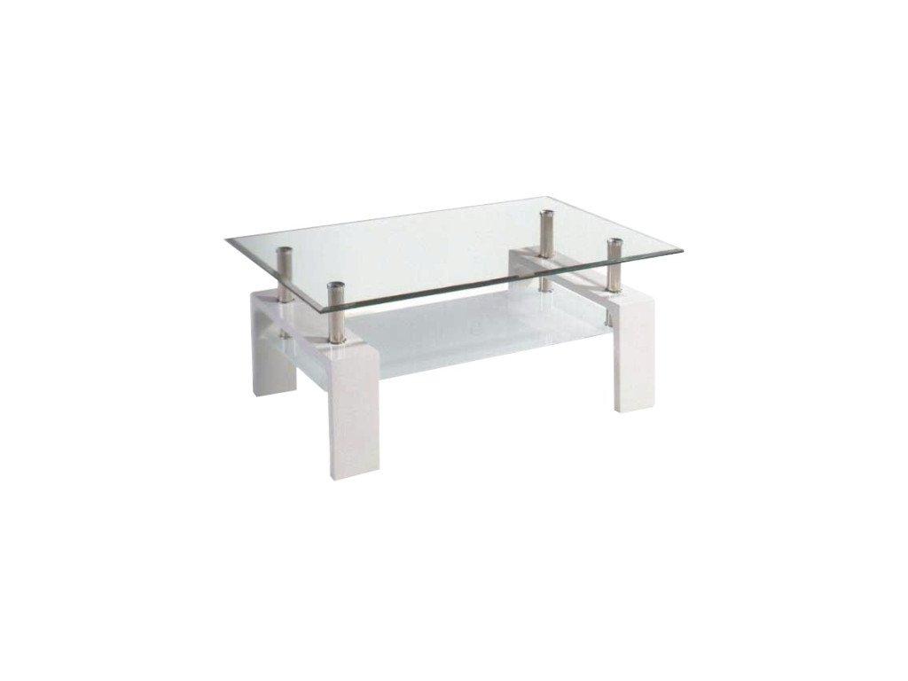Libor konferenčný stolík - biely / sklo