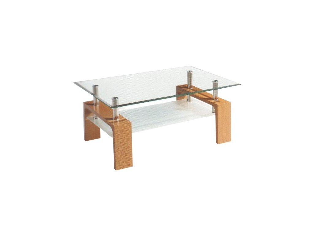 Libor konferenčný stolík - buk / sklo
